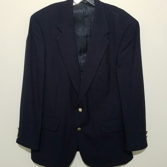 Burberry Other - Burberrys Mens Wool Blazer Suit Coat Jacket Blue